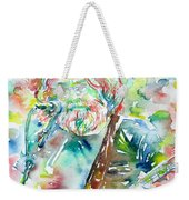 Jerry Garcia Playing The Guitar Watercolor Portrait.2 Weekender Tote Bag