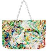 Jerry Garcia Watercolor Portrait.1 Weekender Tote Bag by Fabrizio Cassetta