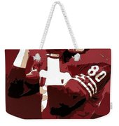 Jerry Rice Poster Art Weekender Tote Bag
