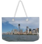 Jersey City And Hudson River Weekender Tote Bag