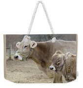 Jersey Cow And Calf Weekender Tote Bag