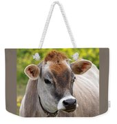 Jersey Cow With Attitude - Square Weekender Tote Bag