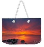 Jersey Shores Fire In The Sky Version 2 Weekender Tote Bag