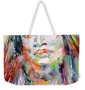 Jessye Norman - Watercolor Portrait Weekender Tote Bag