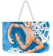 Jester With Snowflakes Weekender Tote Bag