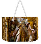Jesus And Angel Sculptures In Mezquita Weekender Tote Bag
