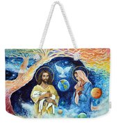 Jesus And Mary Cloud Colored Christ Come Weekender Tote Bag