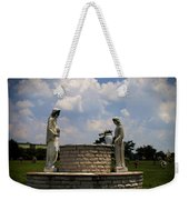 Jesus And The Woman At The Well Cemetery Statues Weekender Tote Bag