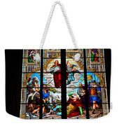 Jesus Angels Stained Glass Painting Inside Cologne Cathedral Germany Weekender Tote Bag
