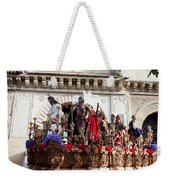 Jesus Christ And Roman Soldiers On Procession Weekender Tote Bag