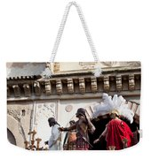 Jesus Christ And Roman Soldiers On Procession Platform Weekender Tote Bag