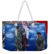 Jesus Christ Float 60th Anniversary Of The Landing On Iwo Jima In Ww2 Sacaton Arizona 2005 Weekender Tote Bag