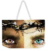 Jesus Christ - How Do You See Me Weekender Tote Bag by Sharon Cummings