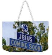 Jesus Coming Soon Weekender Tote Bag
