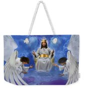 Jesus Enthroned Weekender Tote Bag by Tamer and Cindy Elsharouni