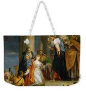 Jesus Healing The Woman With The Issue Of Blood Weekender Tote Bag