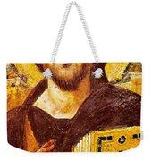 Jesus Icon At Saint Catherine Monastery Weekender Tote Bag