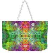 Jesus Quote On The Soul Weekender Tote Bag