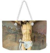 Jesus Statue At Latin Church In Taybeh Weekender Tote Bag