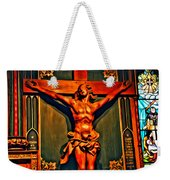 Jesus Statue Of Notre Dame Weekender Tote Bag