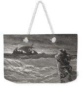 Jesus Walking On The Sea John 6 19 21 Weekender Tote Bag