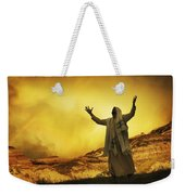 Jesus With Arms Stretched Towards Heaven Weekender Tote Bag