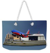 Jet Chicago Airplanes 12 Out Of Bounds Weekender Tote Bag
