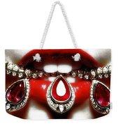 Jewelips Soft Red Weekender Tote Bag