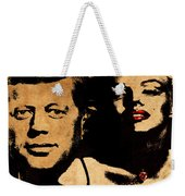 Jfk And Marilyn Weekender Tote Bag