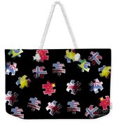 Jigsaw Puzzle Flag Pieces Weekender Tote Bag