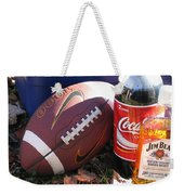 Jim Beam Coke And Football Weekender Tote Bag