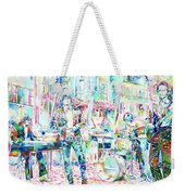 Jim Morrison And The Doors Live Concert In The Street Weekender Tote Bag