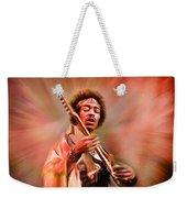 Jimi Hendrix Electrifying Guitar Play Weekender Tote Bag