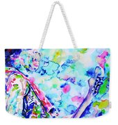 Jimi Hendrix Playing The Guitar.4 -watercolor Portrait Weekender Tote Bag