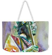 Jimi Hendrix Playing The Guitar.5 -watercolor Portrait Weekender Tote Bag
