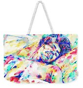 Jimi Hendrix Sleeping - Watercolor Portrait Weekender Tote Bag