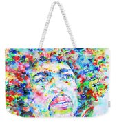 Jimi Hendrix  - Watercolor Portrait.3 Weekender Tote Bag
