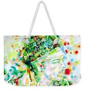 Jimi Hendrix  - Watercolor Portrait.4 Weekender Tote Bag