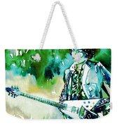 Jimi Hendrix With Guitar Weekender Tote Bag