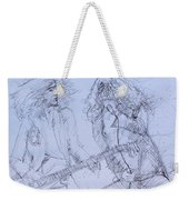 Jimmy Page And Robert Plant Live Concert-pen Portrait Weekender Tote Bag