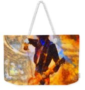 Jimmy Page Playing Guitar With Bow Weekender Tote Bag