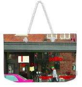 Joblo Restaurant Steakhouse Rue Wellington Verdun Montreal Cafe City Scenes Carole Spandau Weekender Tote Bag