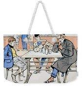 Jockey And Trainers In The Bar Weekender Tote Bag