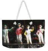 Jockeys In A Row Weekender Tote Bag
