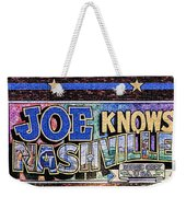Joe Knows Nashville Weekender Tote Bag
