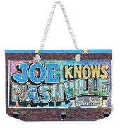 Joe Knows Nashville Weekender Tote Bag
