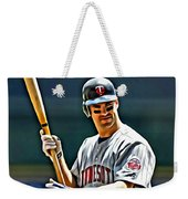 Joe Mauer Painting Weekender Tote Bag