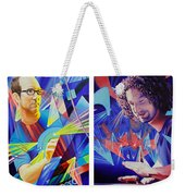 Joel And Andy Weekender Tote Bag by Joshua Morton