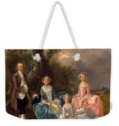 John And Ann Gravenor With Their Daughters Weekender Tote Bag