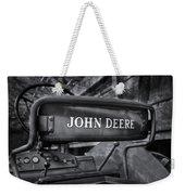 John Deere Tractor Bw Weekender Tote Bag by Susan Candelario